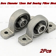 2x Zinc Alloy Support Kit Mounted Ball Self-aligning Bearing Pillow Block 8mm