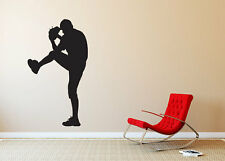 """Baseball Player Pitcher Silhouette Wall Vinyl Graphic Decal Bedroom 22"""" Tall"""