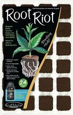 24 x 36mm ROOT RIOT ORGANIC PLANT STARTER CUBES CUTTINGS/ SEEDS / HYDROPONICS