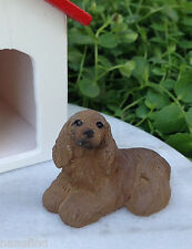 Miniature Dollhouse FAIRY GARDEN Accessories ~ Small Cocker Spaniel Dog ~ NEW