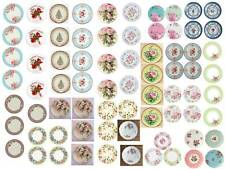 Dollhouse Miniature Shabby Chic Decals 1:12 Scale Plates #3