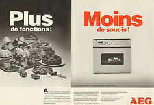 Publicité 1987  (Double page)  Four AEG multicuisson BP 60 i LV