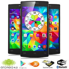 """UNLOCKED! 5.5"""" Touch Screen Android 4.2 DualCore 3G GSM+WCDMA Smartphone Phablet"""