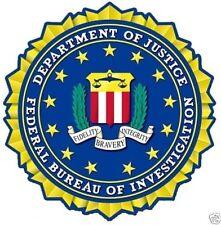 FBI DEPARTMENT OF JUSTICE DECAL / BUMPER STICKER