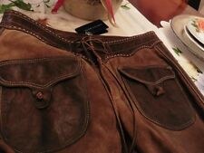 nwt ralph lauren leather-suede pants/ fringe all over runway