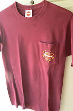 HARLEY DAVIDSON 'ROUTE 66 TULSA OK' WINE TEE-MENS SMALL-CHEST POCKET-GREAT COND