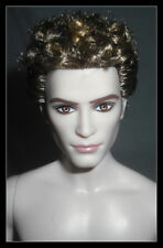 NUDE KEN TWILIGHT JASPER CULLEN MODEL MUSE BRUNETTE KEN DOLL & STAND  OOAK
