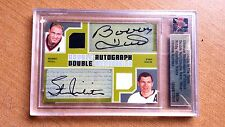 BOBBY HULL & STAN MIKITA dual signed game used pants & jersey card AUTO