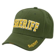 Olive Green Sheriff Police Officer Deputy Costume Cop Baseball Cap Hat Caps Hats