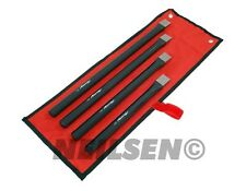 4 Piece Heavy Duty Extra Long Cold Chisel Garage Tool Set 250.300.350.400mm New