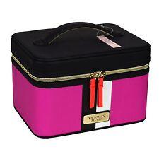 Victorias Secret Hard Train Travel Toiletries Case Make Up Bag Pink