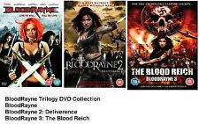 BLOODRAYNE TRILOGY COMPLETE COLLECTION PART 1 2 3 Rayne Rain NEW UK R2 DVD