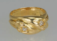 Victorian 18ct Gold Diamond Snake Serpent 1897 Antique Ring 12 gr Men's size W
