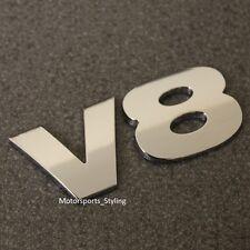 Cromo V8 posterior arranque Insignia Emblema calcomanía auto van posterior del portón trasero Fender Ala Lateral V8