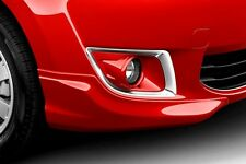 2015 Mitsubishi Mirage Front Bumper Extensions , Color Matched Infra Red Shown