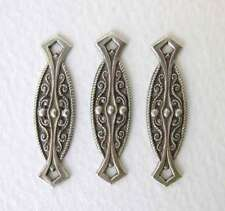 Antiqued Silver Ox Deco Filigree Bar Connector Links Plated Vintage Style 33mm