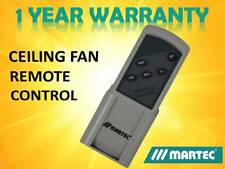 GENUINE MARTEC CEILING FAN REMOTE CONTROL PART # MPREM