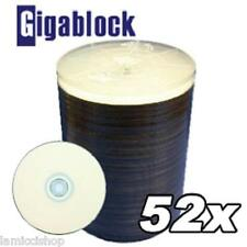 200 CD-R 52x WHITE INKJET HUB PRINTABLE PREMIUM QUALITY