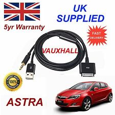 Vauxhall Astra Series For Apple iPhone 3GS 4 4S iPod Audio Cable & charger black