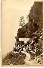 Garcin, Genève, Vallée de Chamonix, le Chapeau vintage albumen print Tirage al