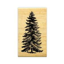 PINE TREE medium mounted rubber stamp, scenery, Christmas, winter #19