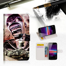 Iron Maiden Wallet TPU Case Cover For HUAWEI Y6 Elite 4G -- A014