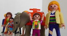 Lot of 11  Playmobil People Plastic Figures Elephant  Playmobile