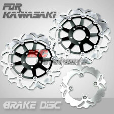 Front Rear Brake Disc Kawasaki Z1000 03-06 2003 2004 2005 2006 04 05 Black