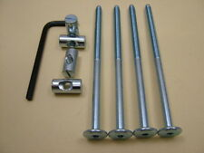 Lit/cot bolts 4 sets of M6 x 115mm boulon, allen clés & 20mm baril écrou = 9 objets