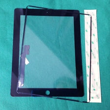 Front Panel Touch Screen Glass Digitizer Replacement for iPad 3/4 Black+Adhesive