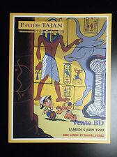 Catalogue de vente BD Etude Tajan Tintin 1999 ETAT NEUF Boule et Bill