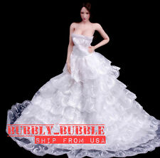 1/6 Lace Princess Wedding Dress For Phicen Hot Toys Female Figure SHIP FROM USA