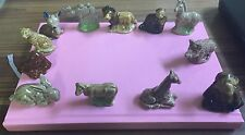 Lot Of 12 Wade Red Rose Tea Figurines See Description And Pictures