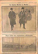 Baron Burian de Rajecz & Comte Berchtold à Berlin/Deutsches Heer Belgie WWI 1915
