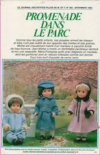 ▬► Page Poupée Françoise Michel  Modes et Travaux 11/1983 Novembre 1983