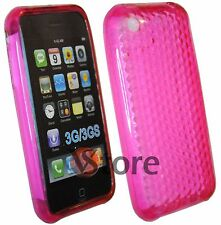 Cover Custodia Silicone Gel TPU Fuxia Per iPhone 3/3G/3GS + Pellicola Display