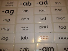 "83 Letter ""A"" Word Families Flash Cards.  ELA, Spelling, Reading, Speech Cards."