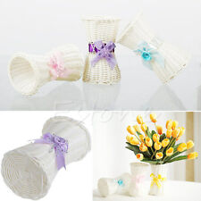 1Pc Artificial Rattan Vase  Flower Fruit Candy Storage Basket Garden Party Decor
