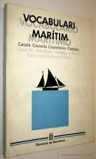 VOCABULARI MARITIM CATALA CASTELLA - CASTELLANO CATALAN MARTINEZ