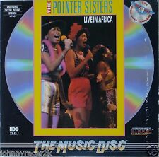 POINTER SISTERS Laserdisc Live in Africa LD
