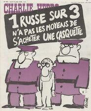 """""""CHARLIE HEBDO N°400 du 13/7/1978"""" REISER : 1 RUSSE SUR 3 N'A PAS DE CASQUETTE"""