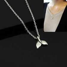 Silver Women Jewelry Vintage Mermaid Whale Tail Pendant Necklaces Chain Party OL