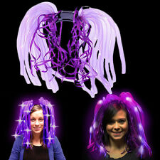 Dazzling Toys Purple LED Light Up Noodle Headband Flashing Bopper Party Dreads