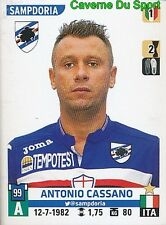 493 ANTONIO CASSANO ITALIA REAL MADRID SAMPDORIA STICKER CALCIATORI 2016 PANINI