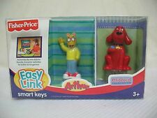 NEW FISHER PRICE EASY LINK SMART KEYS ARTHUR AND CLIFFORD THE BIG RED DOG 2 KEYS
