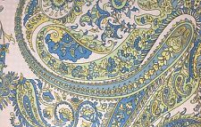 RALPH LAUREN PAISLEY FLORAL KING DUVET COVER SET W / SHAMS BLUE GREEN YELLOW