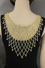 Women Long Open Back Necklace Gold Metal Fashion Jewelry Fringes Wedding Silver