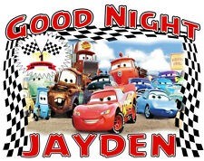CARS LIGHTING McQUEEN Personalized Pillowcase Any Name Sweet Dreams Great Gift