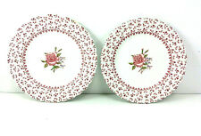 Johnson Bros. Rose Bouquet Pattern Saucers Set Of 2 Made In England