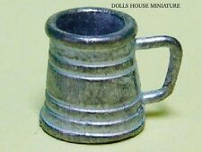 Pewter Beer Tankard, Doll House Miniature Kitchen, Pub Accessory 1.12th Scale